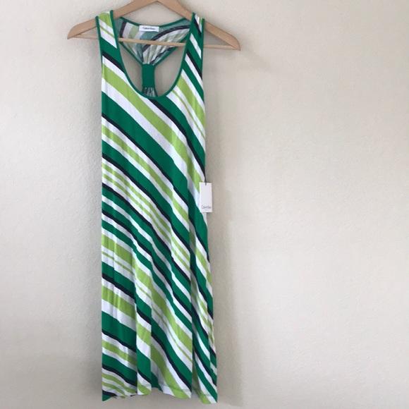 Calvin Klein Dresses & Skirts - 🌿 NWT Calvin Klein •  Striped Summer Dress